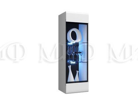 Пенал-стекло навесной исп 2(универс.)Нэнси NEW (Подсветка в комплекте)