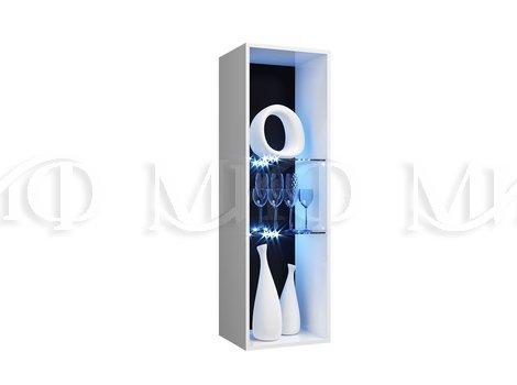 Пенал-стекло навесной исп 2(универс.)Нэнси NEW   -  внутреннее наполнение