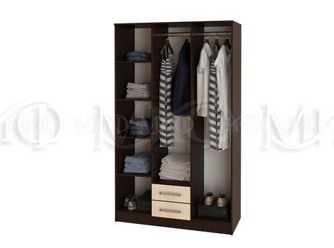 Шкаф для одежды 3х. дверный Фиеста - внутреннее наполнение