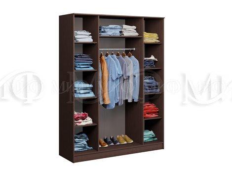 Шкаф для одежды 4-х дверный Фиеста - внутреннее наполнение